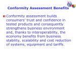 conformity assessment benefits