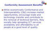 conformity assessment benefits1