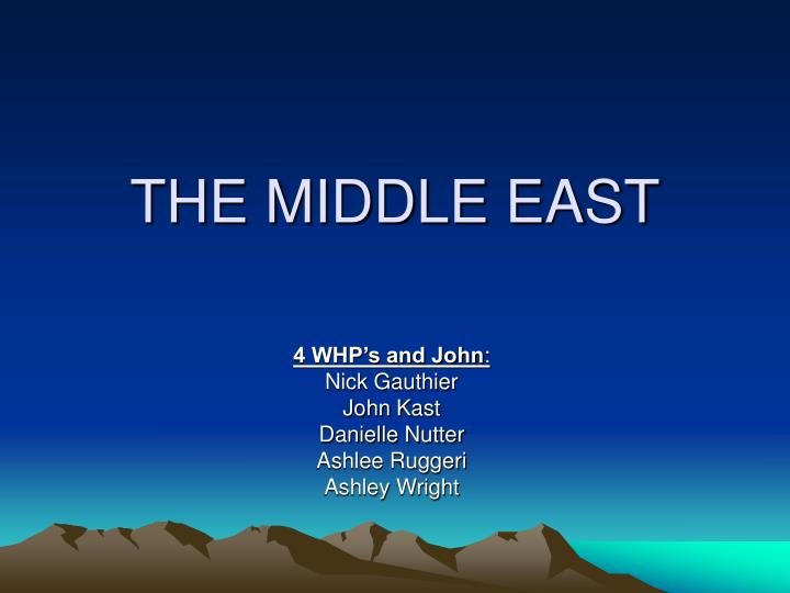 the middle east n.