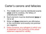 carter s canons and fallacies