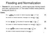 flooding and normalization