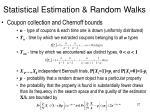 statistical estimation random walks