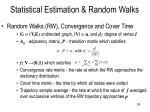 statistical estimation random walks1