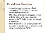 parallel fault simulation