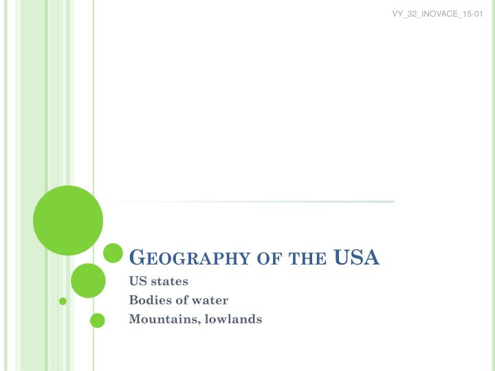 geography of the usa n.