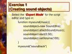 exercise 1 creating sound objects1