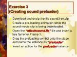 exercise 3 creating sound preloader