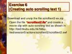 exercise 6 creating auto scrolling text 1