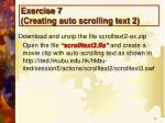 exercise 7 creating auto scrolling text 2