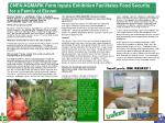 cnfa agmark farm inputs exhibition facilitates food security for a family of eleven