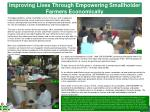 improving lives through empowering smallholder farmers economically