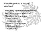 what happens to a neutral mutation