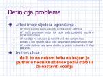 definicija problema