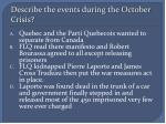 describe the events during the october crisis