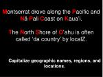 capitalize geographic names regions and locations