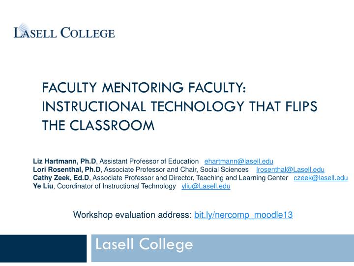 faculty mentoring faculty instructional technology that flips the classroom n.