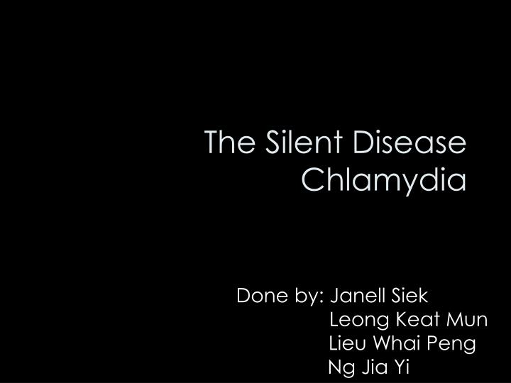 the silent disease chlamydia n.