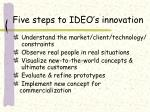 five steps to ideo s innovation