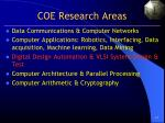 coe research areas