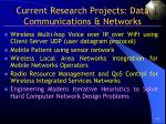 current research projects data communications networks