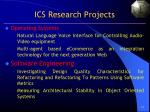 ics research projects
