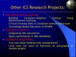 other ics research projects