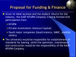 proposal for funding finance