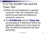 12 2 the scheff test and the tukey test