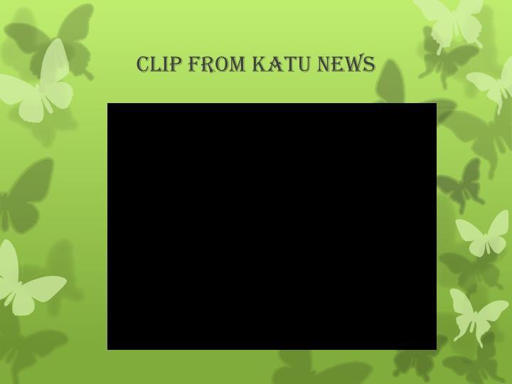 Clip from katu news