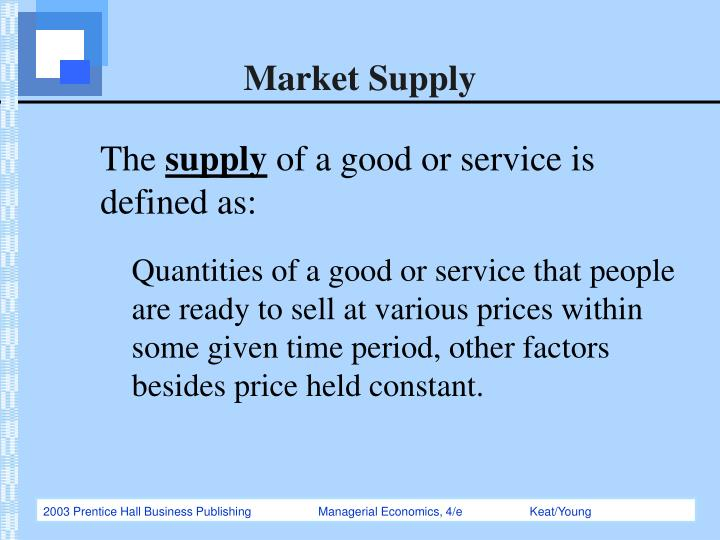 market supply n.