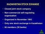 kazakhstan stock exhange
