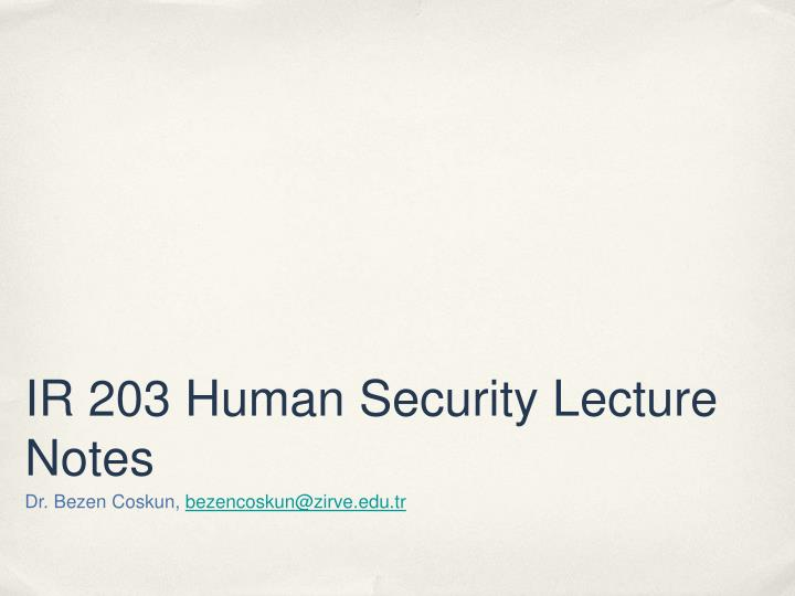 ir 203 human security lecture notes n.