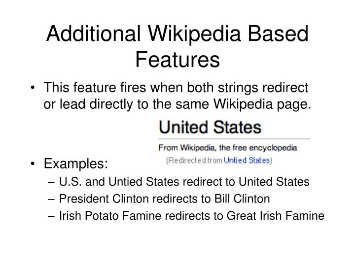 additional wikipedia based features n.
