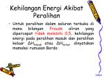 kehilangan energi akibat peralihan