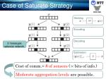 case of saturate strategy