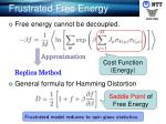 frustrated free energy