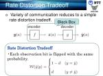 rate distortion tradeoff