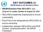 key outcomes 1 srcm eastern and southern africa