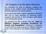 all chapters can be more effective