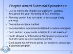 chapter award submittal spreadsheet