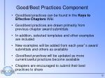good best practices component