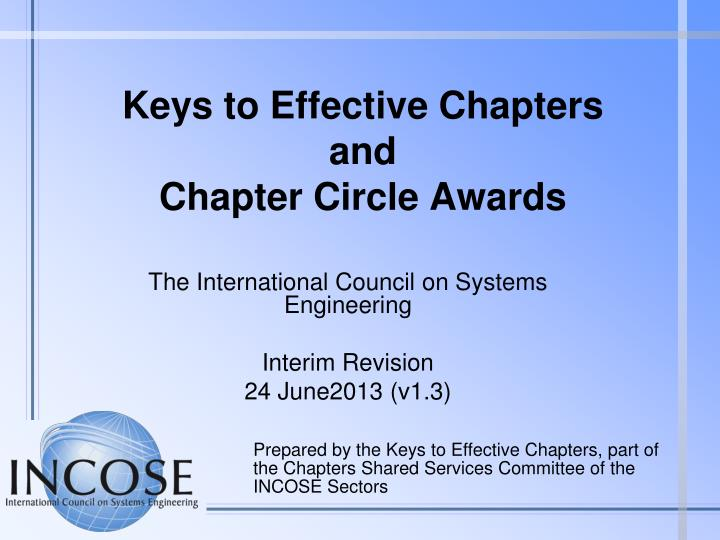 keys to effective chapters and chapter circle awards n.