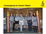 campaigning for human rights