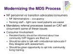 modernizing the mds process