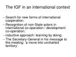 the igf in an international context