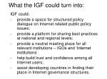 what the igf could turn into