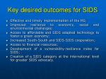 key desired outcomes for sids