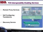 fcs interoperability enabling services