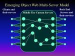 emerging object web multi server model