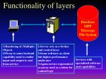 functionality of layers